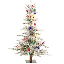 shelley b decor and more 4 ft flocked slim tree