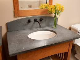 bathroom sink brilliant vanity in white color with black