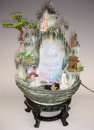 Water Fountain Home Decor by Office Feng Shui Home Decorations Round Bonsai Garden Art