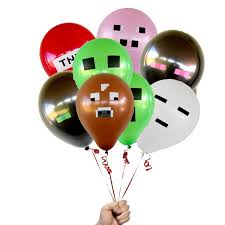 pig balloons pixelated balloons mixed balloons balloon party decorations