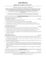human resources generalist sample resume