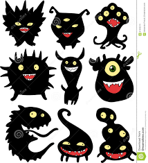 Halloween Ghost Silhouettes Halloween Set Of Monsters Stock Vector Image 61502213