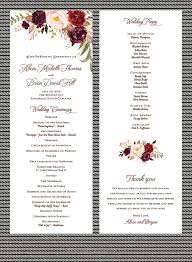 wedding program autumn wedding program sle paperwhites wedding invitations