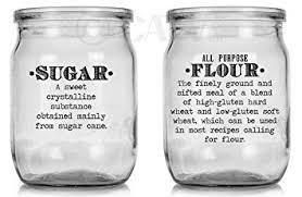 kitchen canister labels basics definition vintage font flour sugar oats rice