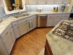 vinyl wood plank flooring in kitchen style with casual