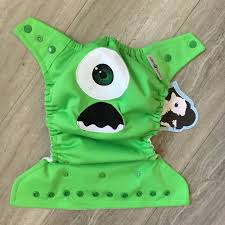 monsters inc mike wazowski cloth diaper cover or pocket diaper