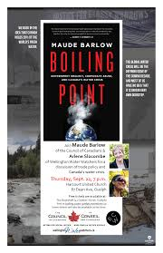 Bookshelf Guelph Join Maude Barlow For A Discussion Of Canada U0027s Water Crisis