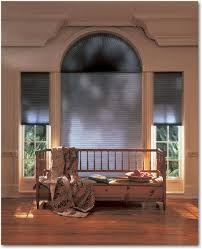 hunter douglas duette honeycomb shades on a half circle window