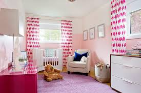 White And Pink Nursery Curtains Pink Nursery With Pink Elephant Curtains Contemporary Nursery