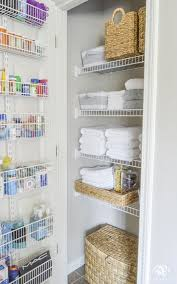 Bathroom Closet Storage Ideas Organized Bathroom Linen Closet Anyone Can Kelley Nan Elfa