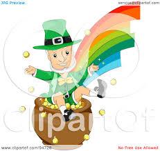 royalty free rf clipart illustration of an old leprechaun man