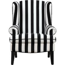 Black And White Striped Accent Chair Tov Furniture Tov A61 Velvet Wingback Chair In Black White