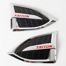 triton mitsubishi logo side vent fender cover fit mitsubishi l200 triton pickup 2015 ebay