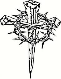 three nails cross with crown of thorns search home
