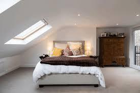 dormer bedroom stylish white wooden bookshelf simple white chair
