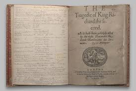 richard ii first edition shakespeare documented