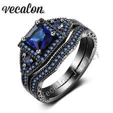 cheap diamond engagement rings online get cheap black engagement ring blue stone aliexpress com