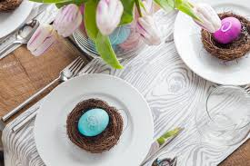 Easter Egg Table Decorations by Easter Egg Table Setting Jelly Toast
