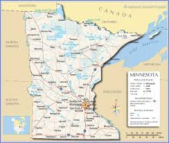 United States Map With Lakes And Rivers by Reference Map Of Minnesota Usa Nations Online Project