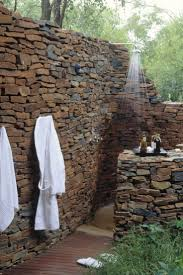 best images about outdoor stone showers and tubs pinterest outdoor shower