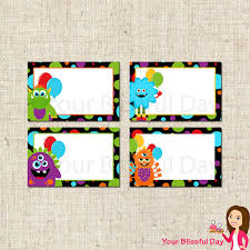 printable monster name tags 27 images of monster birthday printable labels template leseriail com