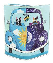 ashley m moon and sun kitty in beatle bug car hippie animal vegan