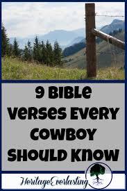 9 bible verses cowboy heritage