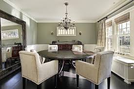 earth tone interior dining room traditional with contemporary