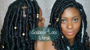 short faux goddess locs quick and easy tutorial ashleyeyes