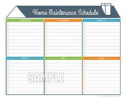 Home Maintenance Spreadsheet by Home Maintenance Schedule Home Maintenance Checklist Editable