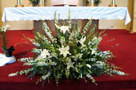 church flower arrangements custom church altar flower arrangements