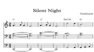 silent night christmas sheet music piano organ u0026 keyboard book 1