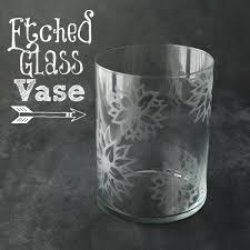 How To Design Flowers In A Vase Diy Etched Glass Vase White Lights On Wednesday