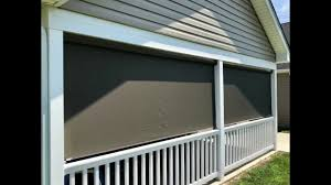 exterior solar roller shades by budget blinds of martinsburg youtube