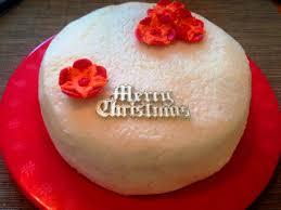 tropical christmas cake with coconut icing bakearama