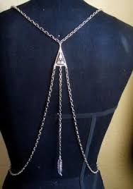 Draped Body Chain Spiderweb Body Harness Jewelry As Soon As I Get More Chain I Want