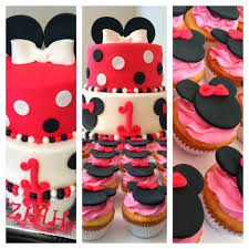 Red Minnie Mouse Cake Decorations 277 Best Cupcake Cake Decorating Images On Pinterest Mickey