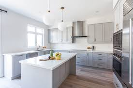 storage contemporary light grey wooden light colored kitchen