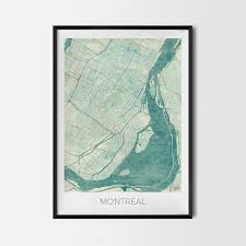 montreal home decor montreal gift map art prints and posters home decor gifts