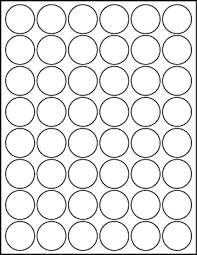 1 Inch Circle Template by White Uncoated Labels 1 1 4 Diameter Circle Lt6015 48c