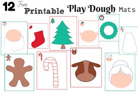 free printable shape playdough mats counting down to christmas play dough sensory mats