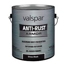 Black Exterior Gloss Paint - shop valspar anti rust armor black gloss oil based enamel interior