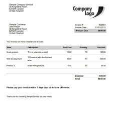 invoice  tunnelvisie with  from tunnelvisietk