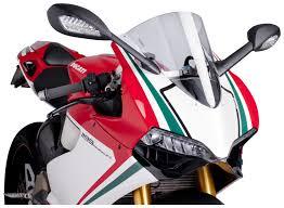 puig racing windscreen ducati 899 1199 panigale 2012 2015 revzilla