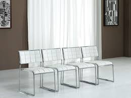 Leather Dining Chair With Chrome Legs Stunning Design Ideas Using Rectangle White Wooden Stacking Chairs