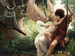 image couples in love young man love girls fantasy angels 1400x1050