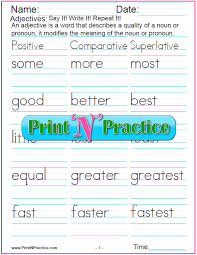 adjective worksheets to print for practice