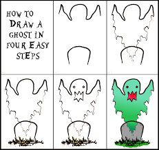 halloween art how to draw a ghost 4 steps daryl hobson artwork