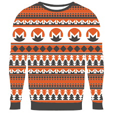 hodlmoon fully knit ugly bitcoin and ethereum sweaters