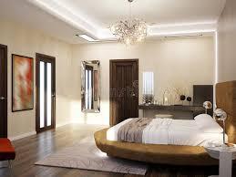 chambre avec lit rond conception intérieure de chambre à coucher moderne avec le lit